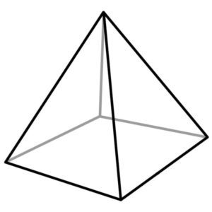 drawing of a 4 sided triangle