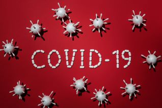 covid cleaning products red pic that says covid-19