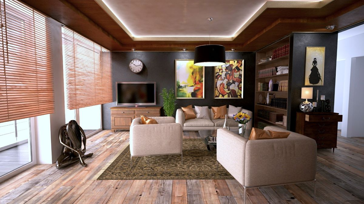 living room with modern home decor