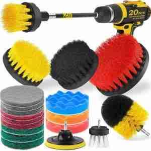 shower scrubber drill attachments