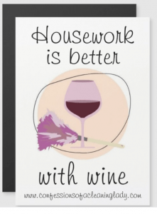 housework is better than wine funny magnet