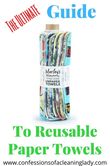 The ultimate guide to reusable paper towels pinterest pin