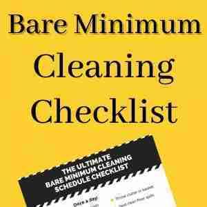 printable bare minimum cleaning schedule checklist