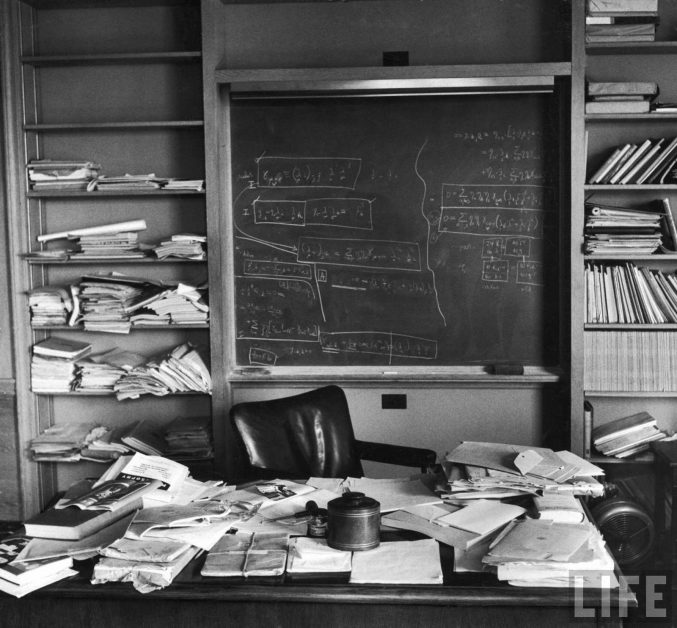 Einstein's messy office