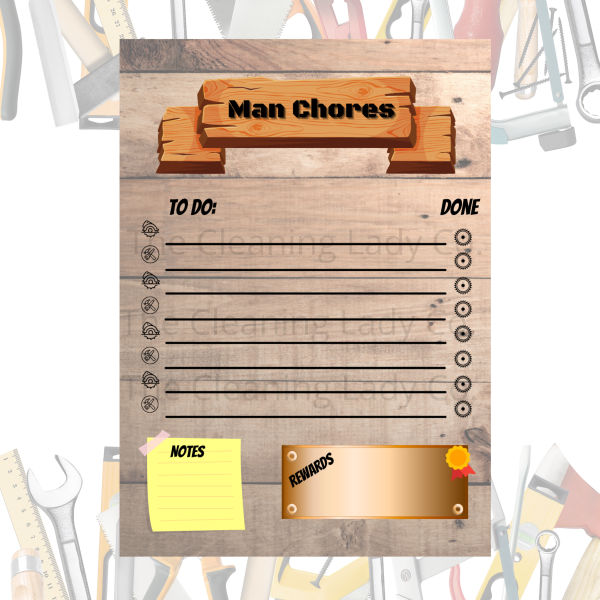 man chore chart guy chore checklist