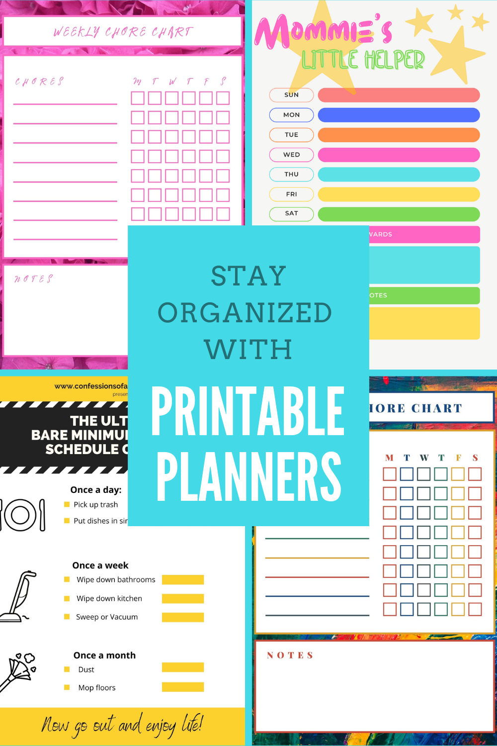 printable cleaning planners