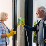 seniors cleaning house