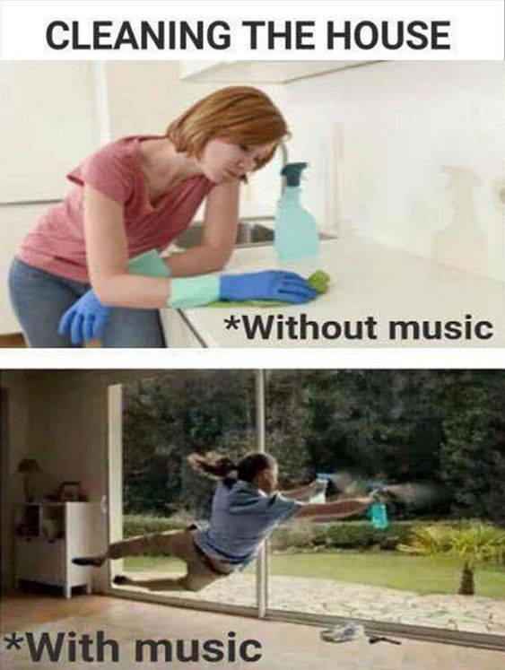 house cleaning motivation music
