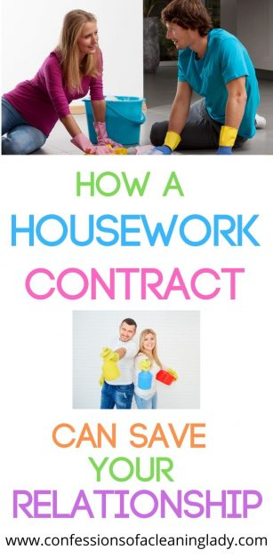 How a housework contract can save your relationship and help divide chores