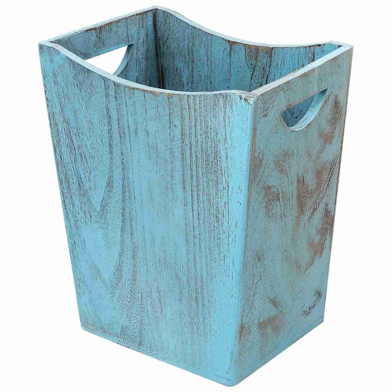blue stylish wastebasket